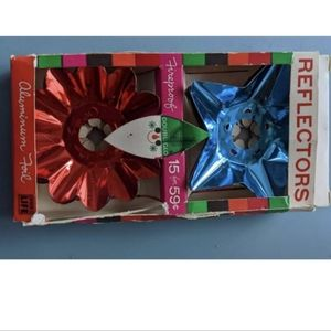 Antique Tin Christmas Light reflectors